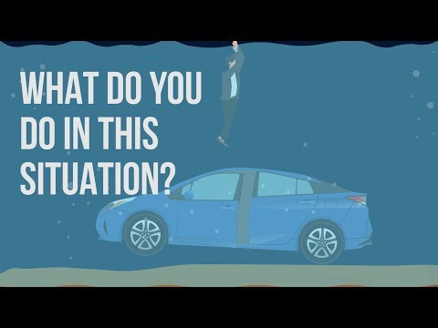 Tips on escaping from your car sinking in floodwaters