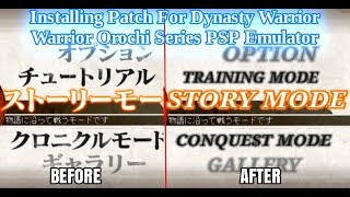 dynasty warriors 7 psp english patch