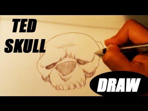 Teddy Bear Skull Speed Drawing - Skull Drawings