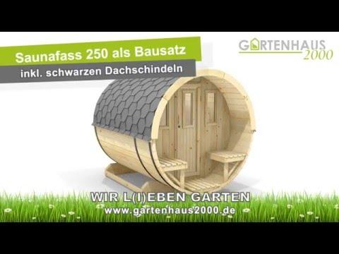 Bauanleitung Saunafass 250 von Wolff Finnhaus - YouTube