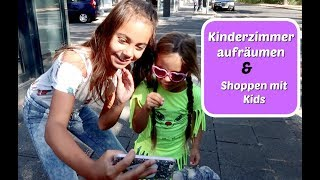 Joana und Lamiya räumen Kinderzimmer um - Shoppen mit den Kids - Vlog#1008 Rosislife