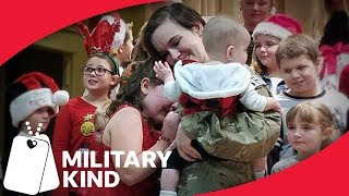 Santa helps sister pull off epic military homecoming