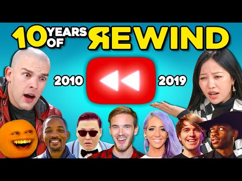 YouTubers React To A Decade Of YouTube Rewind (2010-2019)