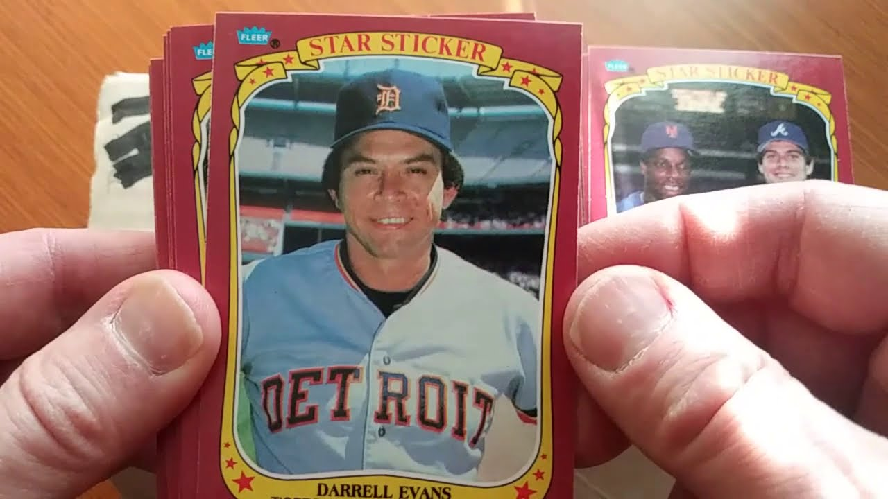 1986 Fleer Star Stickers Baseball Cards Part 1 Of 3
