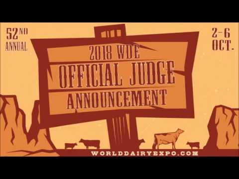 2018 World Dairy Expo Official Judges