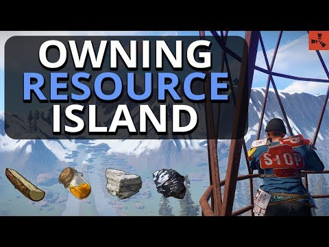 Finding the KEY to Resource ISLAND!! Rust Solo Survival Gameplay