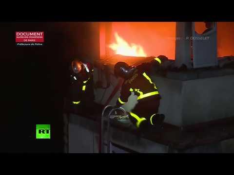 Hubo al menos 10 muertos en el incendio de un edificio en París
