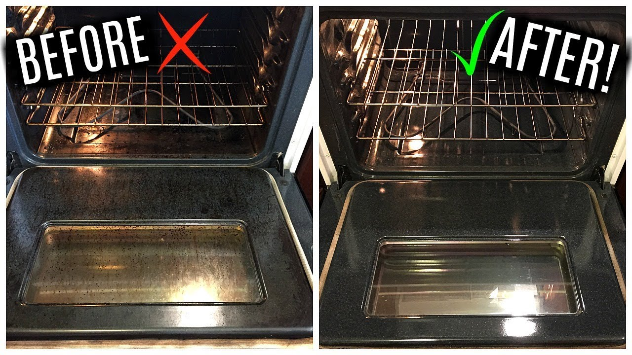 How To Clean Your Oven With Only Baking Soda Vinegar Youtube