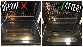 HOW TO CLEAN YOUR OVEN WITH ONLY BAKING SODA + VINEGAR!