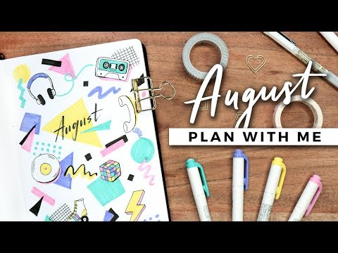 PLAN WITH ME | August 2019 Bullet Journal Setup