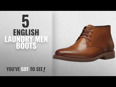 Top 10 English Laundry Men Boots [ Winter 2018 ]: English Laundry Men's Juno Chukka Boot, Cognac, 8