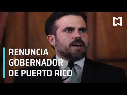 Renuncia el gobernador de Puerto Rico, Ricardo Roselló - En Punto con Denise Maerker