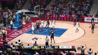 NBA Live 14 - Pacers vs Clippers [PS4]