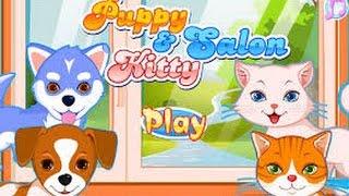 Салон для щенков и котят. Игра для детей.