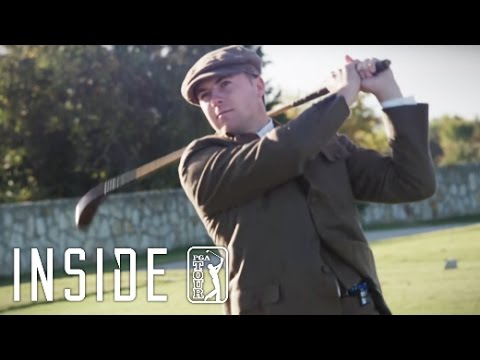 Jordan Spieth plays with hickory golf clubs