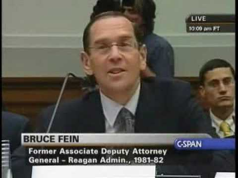 Hearing on Limits of Executive Power: Bruce Fein