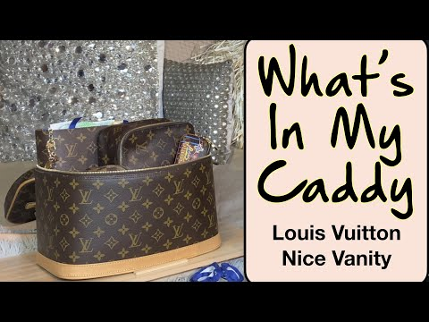 WHAT'S IN MY PLANNER CADDY - Louis Vuitton Nice Vanity - Everyday Caddy #LouisVuittonNiceVanity