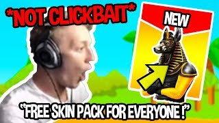 STREAMERS REACT TO FREE SKIN FOR EVERYONE WATCH TO FIND OUT *NO CLICKBAIT* | Fortnite Funny Moments