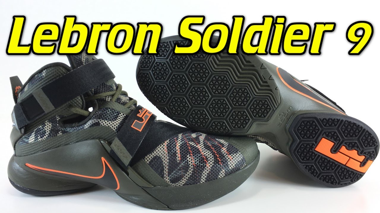 buy online 06fb4 c6238 Nike Lebron Soldier 9 Camo - Review + On Feet - YouTube