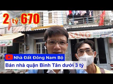 Video nhà bán quận Bình Tân dưới 3 tỷ. Nhà đẹp 1 lầu 2PN 2WC hẻm 4m