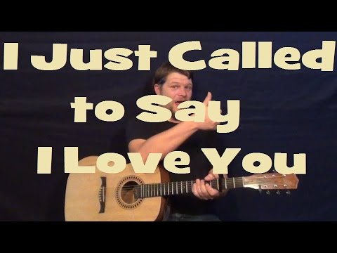 I Just Called To Say I Love You Stevie Wonder Easy Guitar Lesson