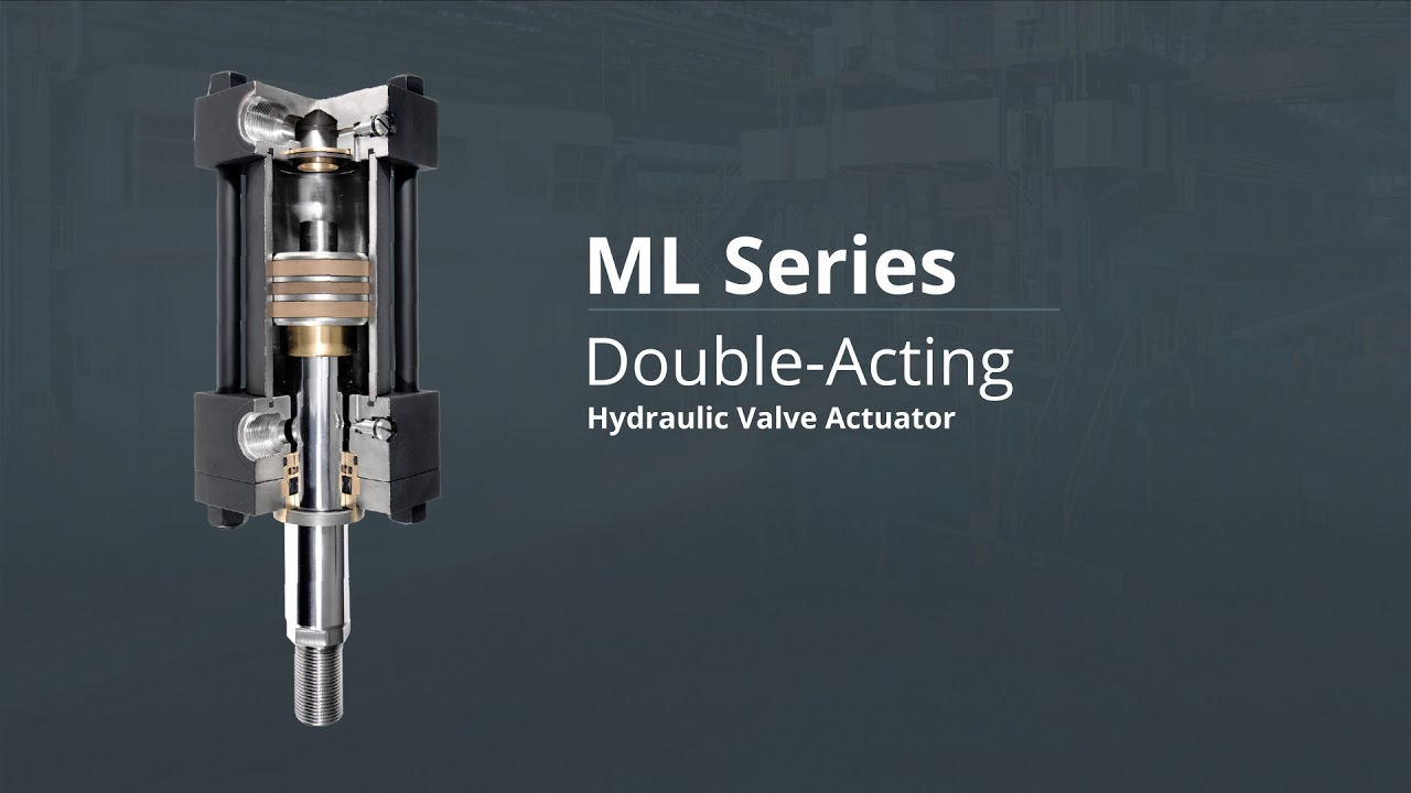 Double-Acting Hydraulic Valve Actuator - ML Series