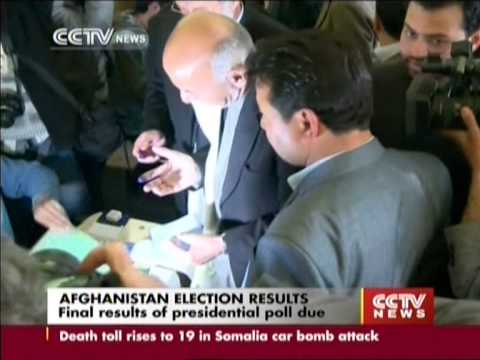 Final results of Afghanistan presidential election due