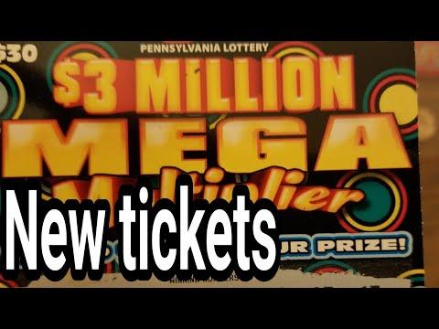 New $30 & $10 Crossword. Pa lottery scratch tickets.