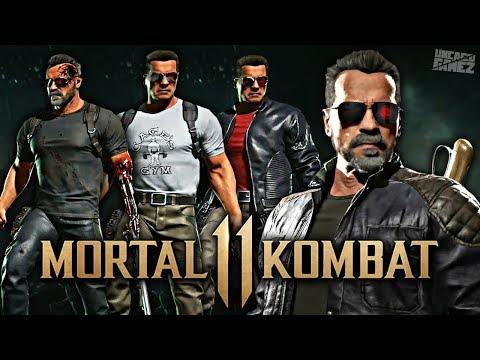 Mortal Kombat 11 - ALL Terminator Skins, Intros & Victory Poses!!