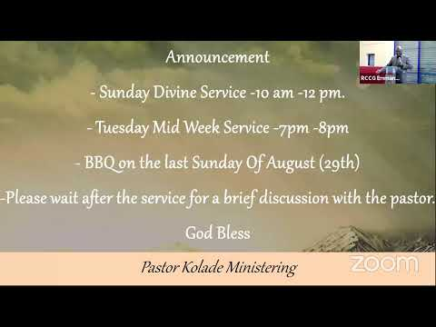 Sunday Divine Service 8th Of August