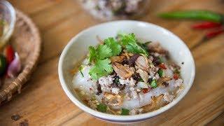 Bánh Đúc Nóng - Steamed Rice Cake w/ Toppings
