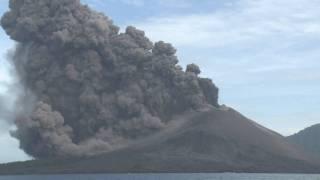 Spectacular Explosive Eruptions at Anak Krakatau (Krakatoa) Volcano, Indonesia 1st Nov. 2010