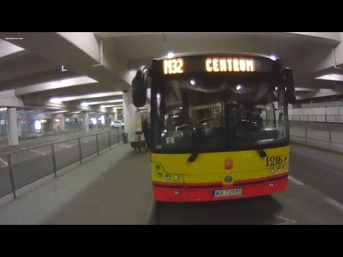 Warsaw Chopin Airport Night Bus to Warsaw Central Station