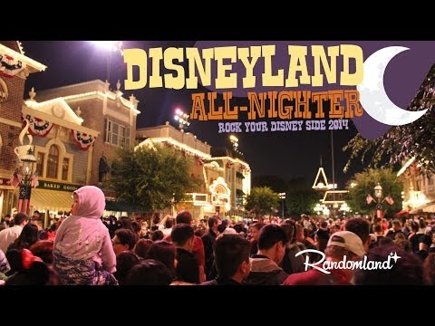 All Night at Disneyland - Rock Your Disney Side 24 Hour Special Event - Randomland
