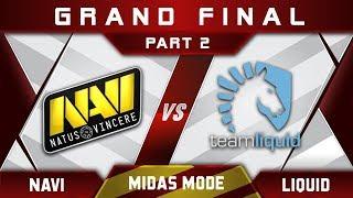 Liquid vs NaVi Grand Final Midas Mode 2017 Highlights Dota 2 - Part 2