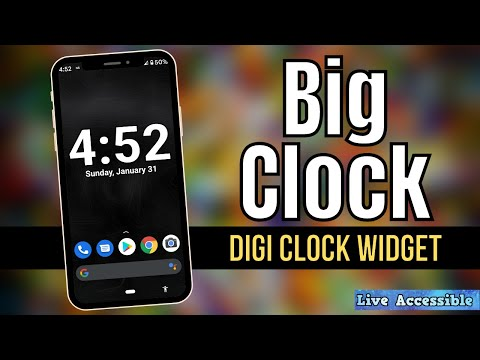 Digi Clock Widget - HUGE Android Clock Widget App