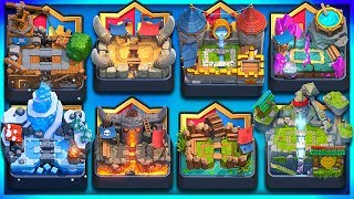 ONE CARD... 8 DIFFERENT ARENAS! 2v2 Nick & Molt Clash Royale