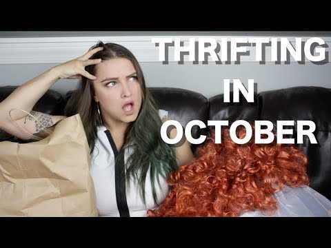 Thrifting Cosplay Pieces In October - TRY ON
