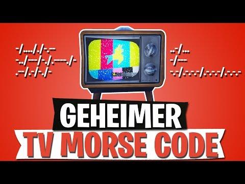 GEHEIMER TV MORSE CODE | NACHRICHT IM FERNSEHER | FORTNITE BATTLE ROYALE Deutsch
