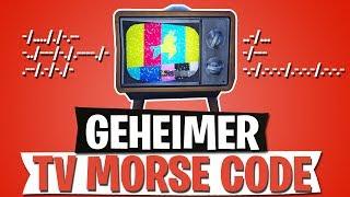 GEHEIMER TV MORSE CODE | MESSAGE ON TV | FORTNITE BATTLE ROYALE English