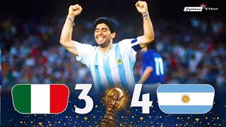 Italy 1 (3) x (4) 1 Argentina ● 1990 World Cup Semifinal Extended Goals & Highlights + Penalties HD