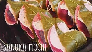 How to make Japanese Sakuramochi(RECIPE) 桜もちの作り方(レシピ)