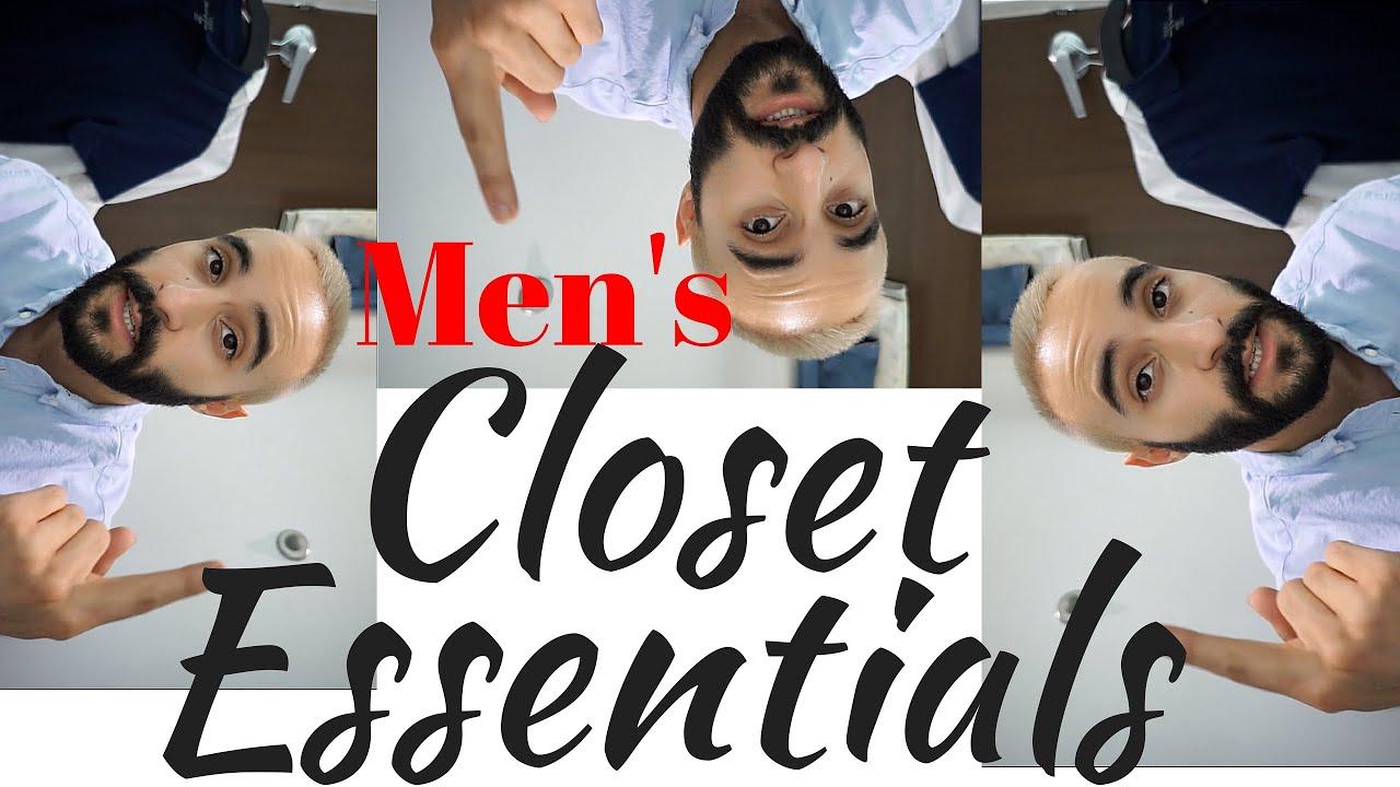 men s closet essentials how to make a minimalistic closet youtube
