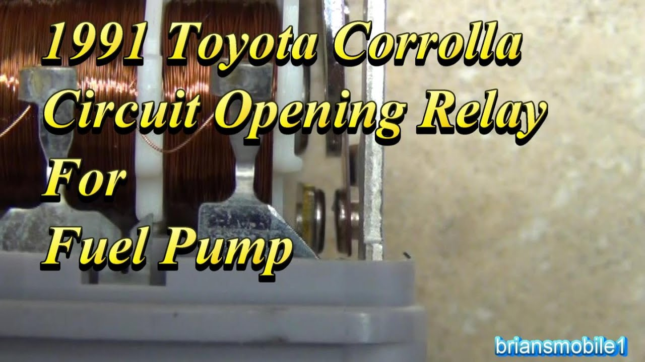 Toyota Fuel Pump Circuit Opening Relay Youtube