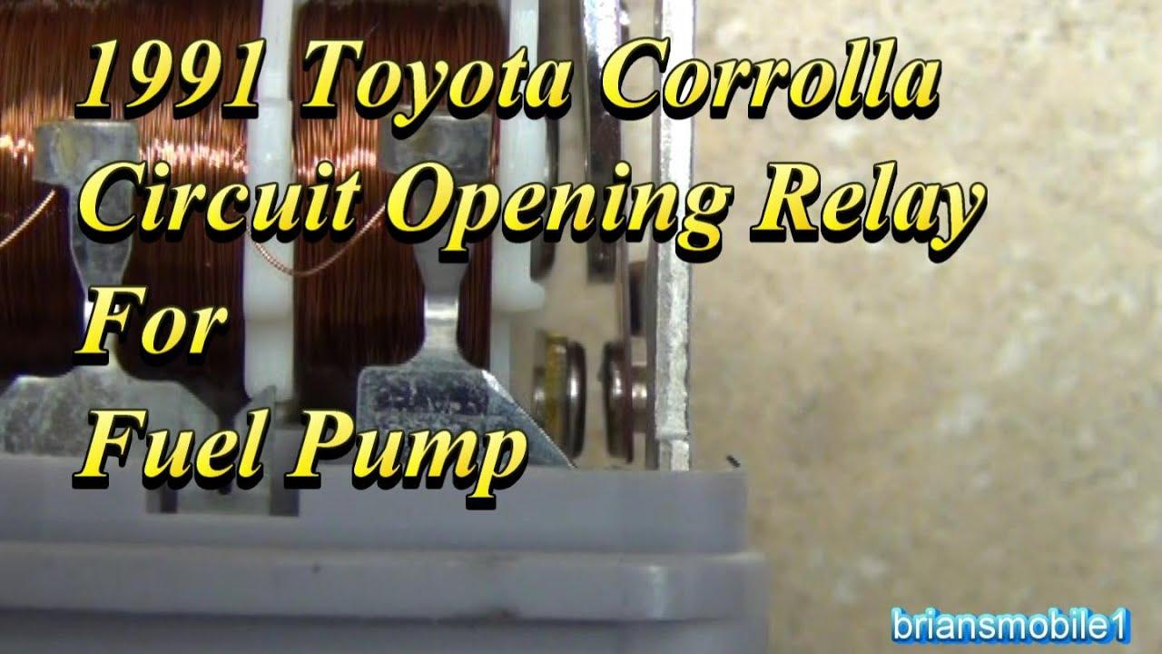 1993 Chevy Truck Fuel Pump Wiring Diagram Hayward Super Ii Toyota Circuit Opening Relay Youtube