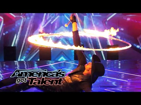 Loop Rawlins: Wild West Performer Plays With Fire - America's Got Talent 2014