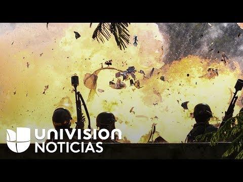 Fuerte explosión dejó heridos a varios oficiales de la Guardia Nacional venezolana