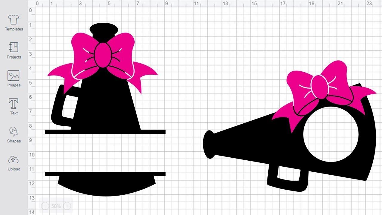 Cheer Svg Megaphone Monogram Cut Files For Cricut Silhouette Cheerleading Svg Youtube