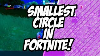 SMALLEST CIRCLE IN FORTNITE! (Crazy Ending!)