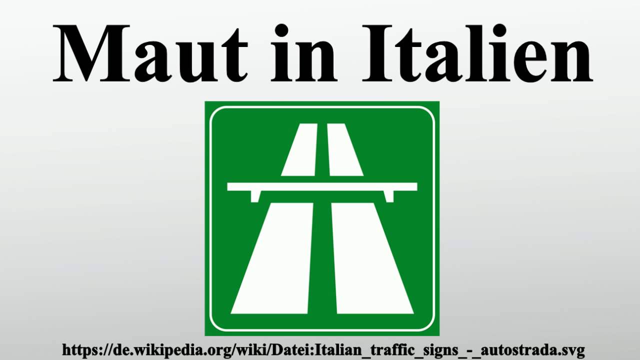 Maut in Italien - YouTube